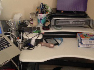 Romance Author Nicole Archer's desk