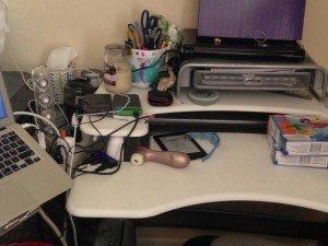 Romance Author Nicole Archer's desk